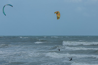 Kite surfers take advantage of the strong easterly winds off the coast of Juno Beach, Tuesday, September 22, 2020. [JOSEPH FORZANO/palmbeachpost.com]