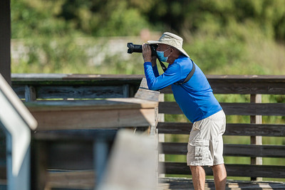 A man shoots photographs from the boardwalk of Green Cay Wetlands in Boynton Beach, Thursday, October 1, 2020. The Green Cay Wetlands boardwalk recently reopened to visitors - it had been shut down since the spring due to the coronavirus pandemic.  [JOSEPH FORZANO/palmbeachpost.com]