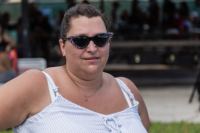 """Becki Nelson, of Tipp City, Ohio, sister of Jacqueline """"Jackie"""" Barthelemy, at a Celebration of Life for Barthelemy at Loggerhead Park in Juno Beach, Saturday, October 10, 2020. Barthelemy was fatally shot on September 11, 2020. (JOSEPH FORZANO / THE PALM BEACH POST)"""