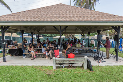 """Family and friends gather for a Celebration of Life for Jacqueline """"Jackie"""" Barthelemy at Loggerhead Park in Juno Beach, Saturday, October 10, 2020. Barthelemy was fatally shot on September 11, 2020. (JOSEPH FORZANO / THE PALM BEACH POST)"""
