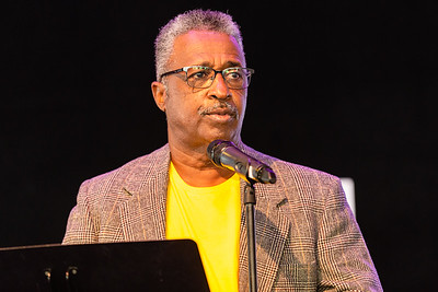 Clinton Jones Senior, Corey Jones' father, speaks at the Corey Jones Memorial Day event at the Arts Garage in Delray Beach, Friday, October 16, 2020. Corey Jones was shot and killed by former Palm Beach Gardens Police Officer Nouman Raja on October 18, 2015.(JOSEPH FORZANO / THE PALM BEACH POST)