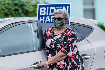 "Mary L. Gilbert of Riviera Beach was part of the Souls to the Polls event, Sunday, October 25, 2020. ""I'm here to vote,"" she said, ""My grandparents fought too hard for us to get and vote."" Members of the congregation were escorted to the polling place at Wells Recreation Center in Riviera Beach. The event was organized by Faith in Florida. (JOSEPH FORZANO / THE PALM BEACH POST)"