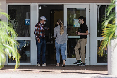 There were no voting lines at the Boynton Beach Community Church in Boynton Beach on Election Day, November 3, 2020. Voters were in and out in under 10 minutes. (JOSEPH FORZANO / THE PALM BEACH POST)
