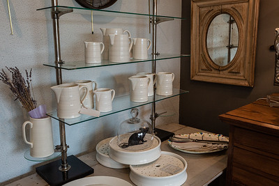 Some of the wares for sale at Faustina Pace Antiques & Interiors on South Dixie Highway in West Palm Beach, Wednesday, November 11, 2020. (JOSEPH FORZANO / THE PALM BEACH POST)