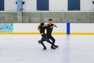 Maxine Weatherby (19), from Boca Raton, and Temirlan Yerzhanov (24) also from Boca Raton, practice their ice dancing routine at Palm Beach Ice Works in West Palm Beach on Friday, December 13, 2020.  Weatherby and Yerzhanov have been ice dancing partners for two years and will be representing Kazakhstan - Yerzhanov's home country - in the Worlds in March 2021 in Sweden. Their goal is to qualify and skate in the 2022 Winter Olympics in China. (JOSEPH FORZANO / THE PALM BEACH POST)
