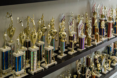 Various customizable trophies available at Manhattan Trophies on Dixie Highway in Lake Worth Beach, Friday, November 20, 2020. (JOSEPH FORZANO / THE PALM BEACH POST)