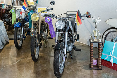 Some of the decor of Old Metal Classics Café and More in Northwood Village, Saturday, November 28, 2020. Peter Kisgen has owned the motorcycle themed cafe for 3 years. (JOSEPH FORZANO / THE PALM BEACH POST)