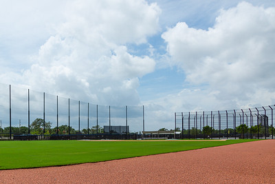 The Washington National's practice fields are empty at the FITTEAM Ballpark of the Palm Beaches, in West Palm Beach, Tuesday, April 26, 2020. Today was supposed to be the first day that players were able to start using the facilities. [JOSEPH FORZANO/palmbeachpost.com]