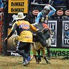 junior bull rider FLETCHER JOWERS during the third round at the Professional Bull Riders Built Ford Tough Series, Bass Pro Chute Out presented by Cooper Tires at the Scottrade Center in St. Louis, Missouri
