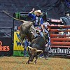 Rider RENATO NUNES  with bull DIESEL during the third round at the Professional Bull Riders Built Ford Tough Series, Bass Pro Chute Out presented by Cooper Tires at the Scottrade Center in St. Louis, Missouri
