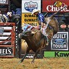 Rider RENATO NUNES  has a successful ride on bull MISSOURI BOAT RIDE during the second round at the Professional Bull Riders Built Ford Tough Series, Bass Pro Chute Out presented by Cooper Tires at the Scottrade Center in St. Louis, Missouri