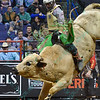 Rider BRADY SIMS  on bull FARGO during the first round at the Professional Bull Riders Built Ford Tough Series, Bass Pro Chute Out presented by Cooper Tires at the Scottrade Center in St. Louis, Missouri
