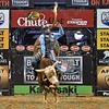 Rider ZANE LAMBERT  has a successful ride on bull KRAKEN during the final round at the Professional Bull Riders Built Ford Tough Series, Bass Pro Chute Out presented by Cooper Tires at the Scottrade Center in St. Louis, Missouri
