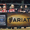 The PBR girls during the third round at the Professional Bull Riders Built Ford Tough Series, Bass Pro Chute Out presented by Cooper Tires at the Scottrade Center in St. Louis, Missouri