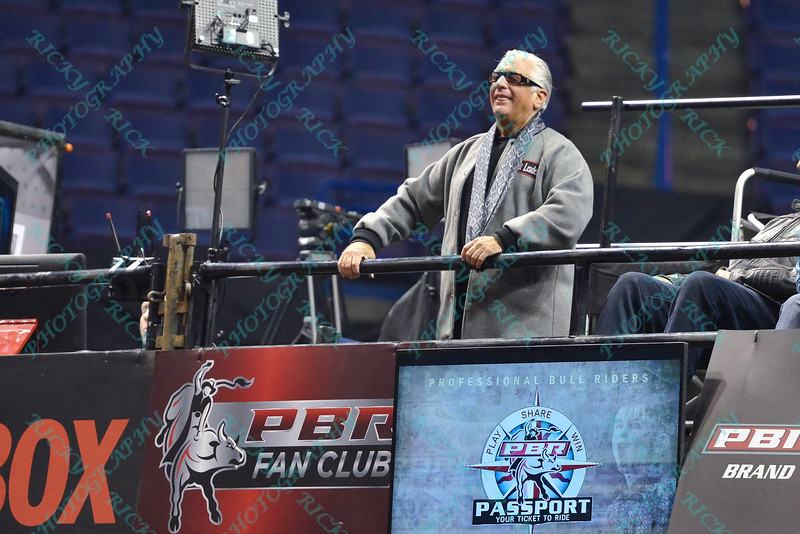Barry from Storage Wars in attendance during the third round at the Professional Bull Riders Built Ford Tough Series, Bass Pro Chute Out presented by Cooper Tires at the Scottrade Center in St. Louis, Missouri