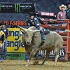 Rider MARCO EGUCHI with bull TAHONTA'S MAGIC during the third round at the Professional Bull Riders Built Ford Tough Series, Bass Pro Chute Out presented by Cooper Tires at the Scottrade Center in St. Louis, Missouri