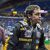 Rider SILVANO ALVES during the first round at the Professional Bull Riders Built Ford Tough Series, Chute Out presented by Cooper Tires at the Scottrade Center in St. Louis, Missouri