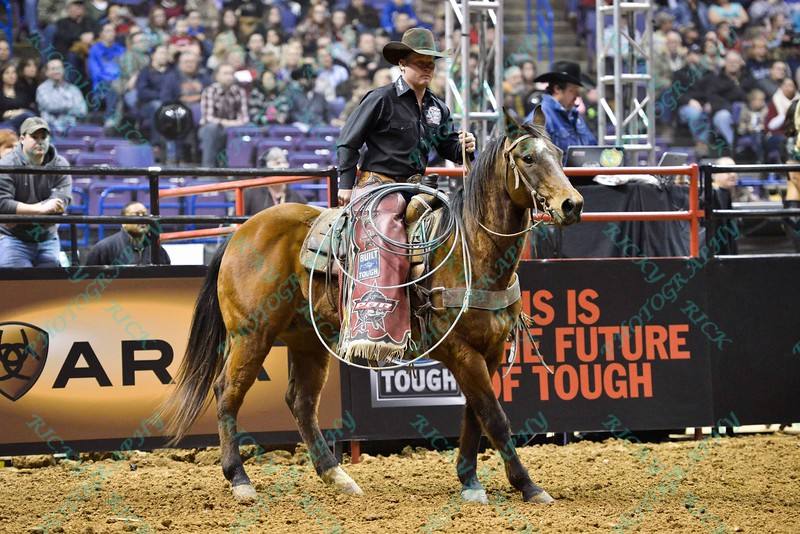 Wrangler and safety person CHRIS SHIVERS during the final round at the Professional Bull Riders Built Ford Tough Series, Bass Pro Chute Out presented by Cooper Tires at the Scottrade Center in St. Louis, Missouri