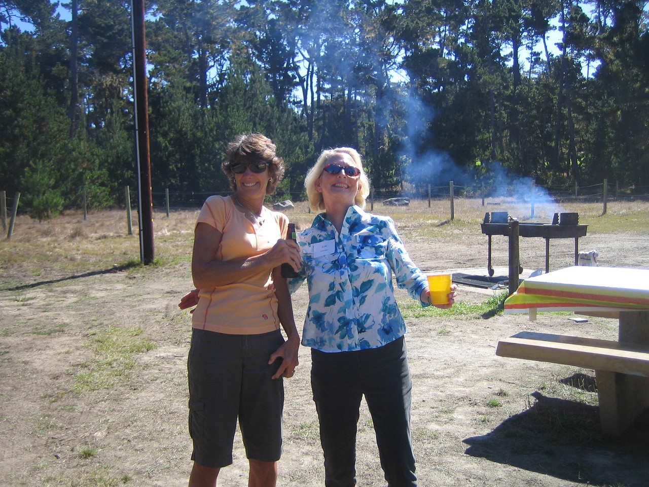 Christine Olson and Kim Caneer strike a pose.
