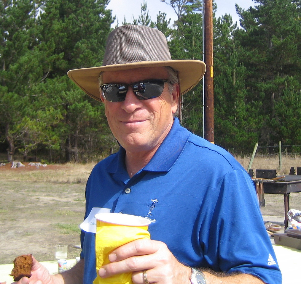 Lorin Letendre with a smile and a drink.