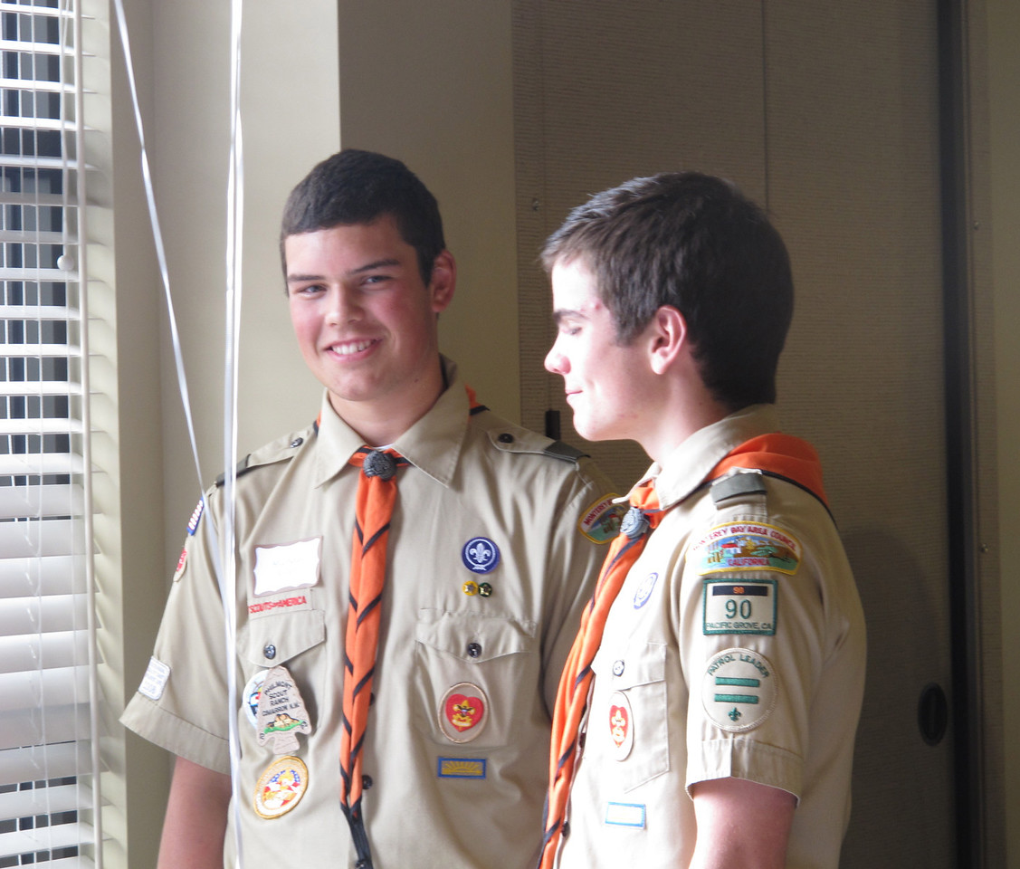 Michael Ryan and Scott Long--our Eagle Scouts and two great guys