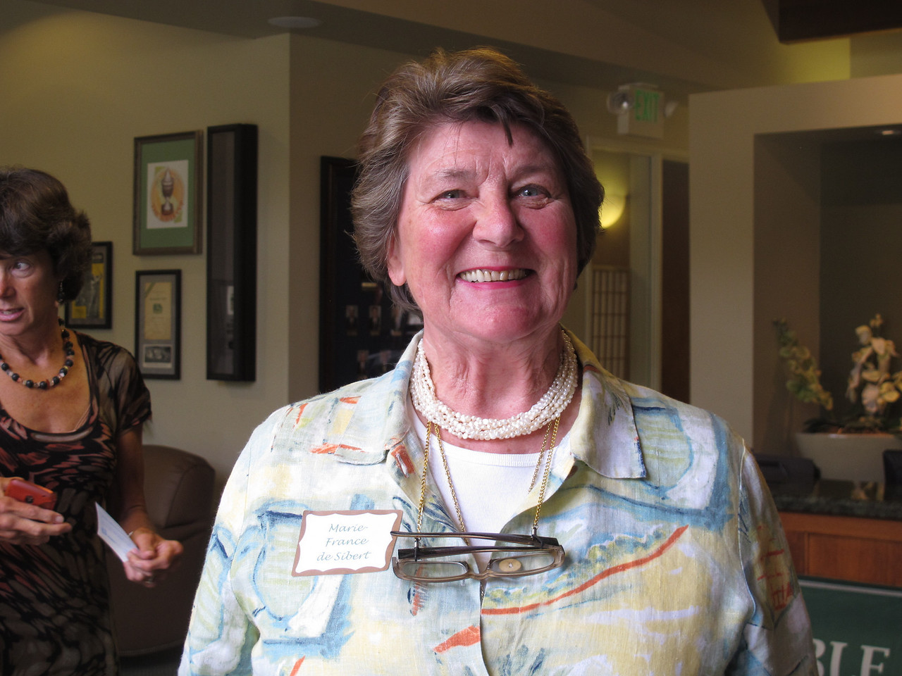 Marie-France de Sibert, PBRTA director '11-'12, gives us a smile