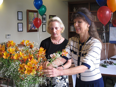 Final flower arrangements by Kim Caneer Trails improvement co-chair '08-'12 and Gail Ryland PBRTA director '10-'13