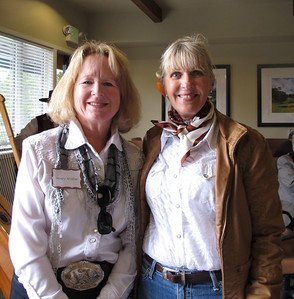 Equestrians Mary Wiltse and Kay Gameiro