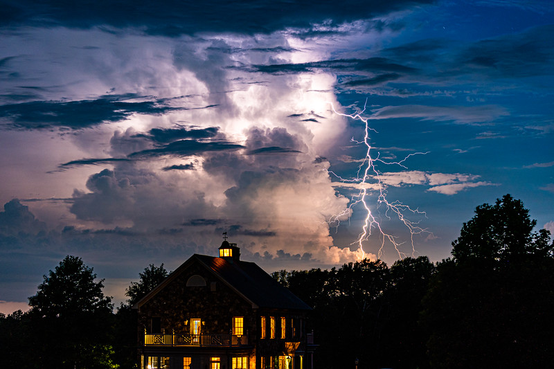 I was setting up to shoot the Comet NEOWISE with the 70-200 but this storm came through instead.  I like the way it turned out except did not realize at the time I cropped off the bottom of the house.