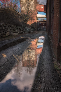 Alley Reflection at The Portland Company
