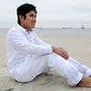 PCHY MOORE SITTING ON BEACH