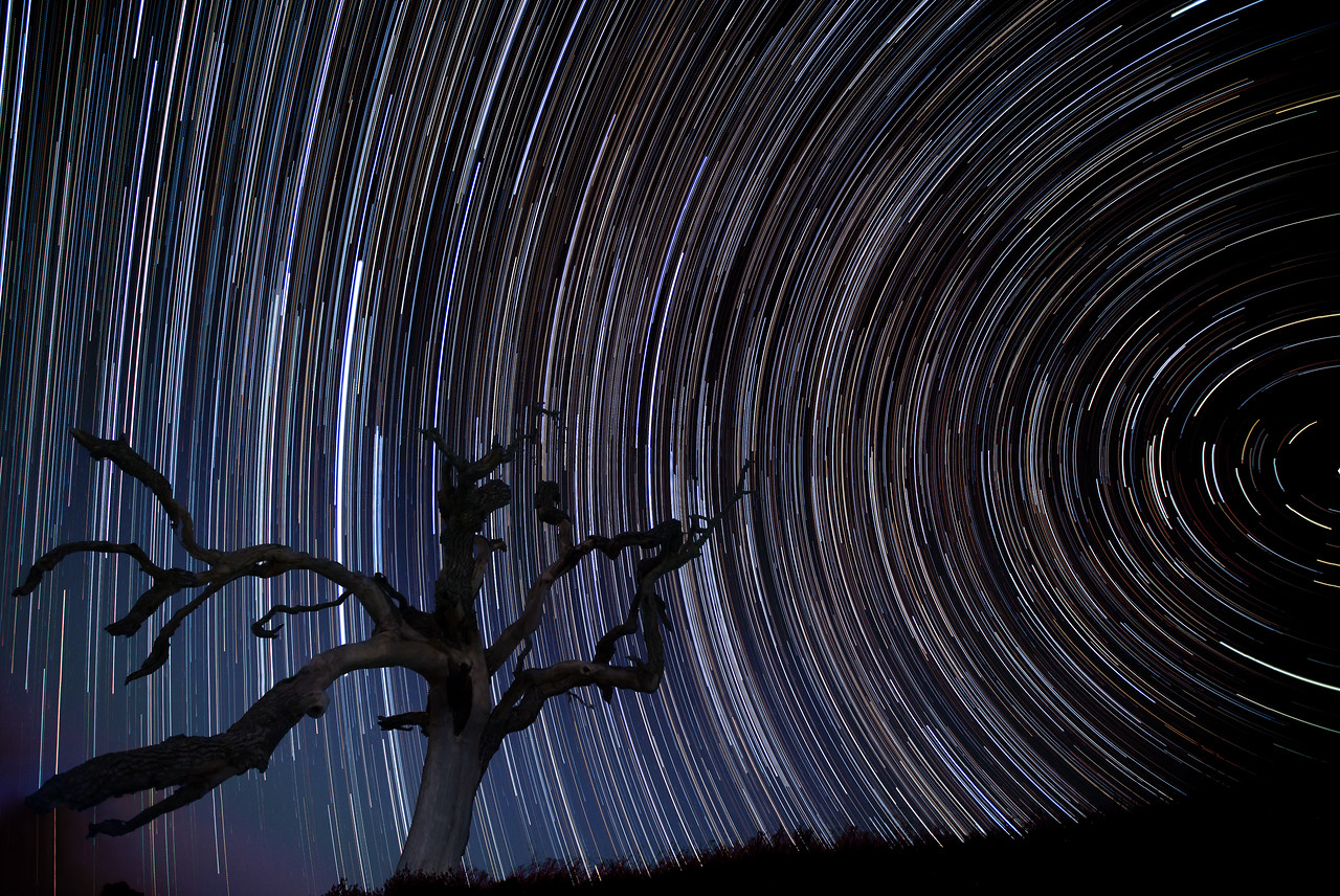 263 images stacked using StarTrails.exe. Each photo: 16mm, f/2.8, ISO400, 30 seconds. Edited in Lightroom and CS6.