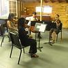 (left to right) Telden, Miranda, Matt & Emma playing Grieg String Quartet