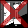 door to door salesman cross red