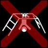 climbing frame upside-down cross red