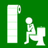 toilet use much green