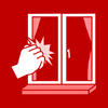 window knocking red
