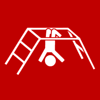 climbing frame upside-down red