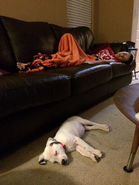 Meredith & Penny sleeping