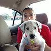 Meredith & Penny on the ride home