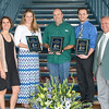 Jennifer Pollack(left), Kathryn  Mendenhall, Dr. Lee Smee, Luke Tornabene and  Dean Frank Pezold. TAMU-CC graduates were honored with an award during a lunch to recognize their achievements.