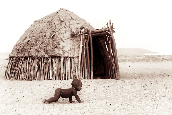 Himba people in northern Namibia