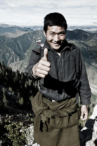 Local mountain guide - eastern Tibet, China