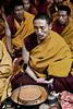 Monks at prayer - eastern Tibet, China