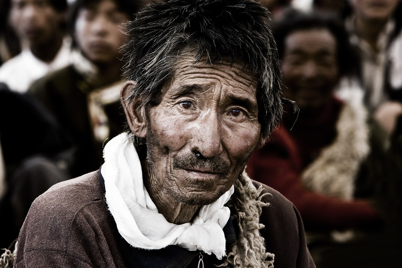 A villager in the Himalayan foothills, eastern Tibet