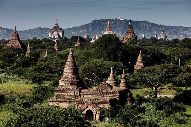 Classic view over Bagan's pagodas - Myanmar