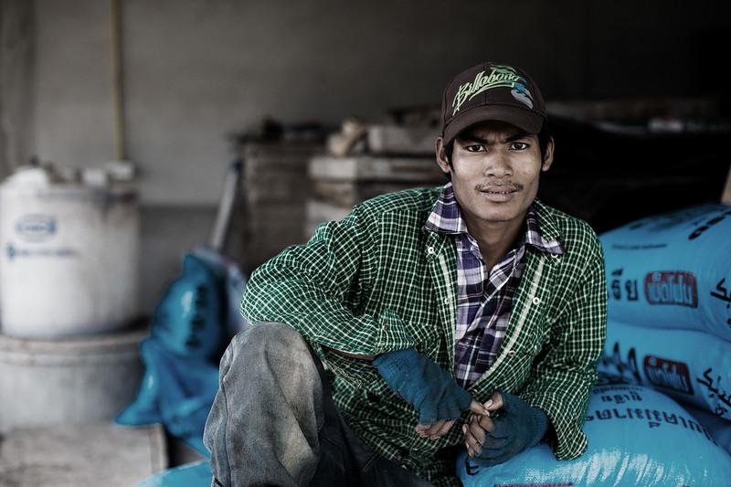 A tea plantation worker - near Chiang Rai, Thailand