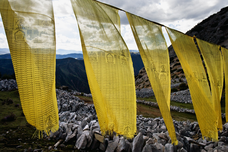 Prayer flags - eastern Tibet