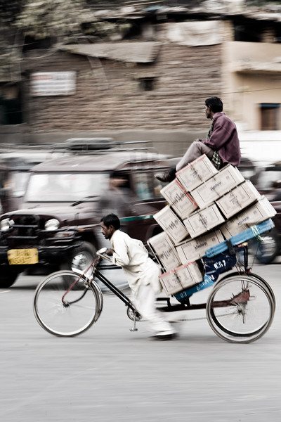 Rush hour - Old Delhi, India
