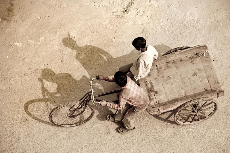 Casting shadows - Delhi, India
